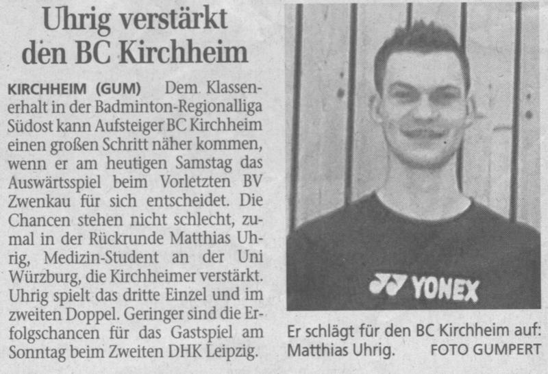 Ein neuer Mann in Kirchheim