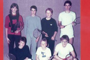 Künzelsau Badminton 1983-Jugendmannschaft